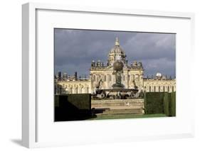 Atlas Fountain with Facade of Castle Howard in the Background-John Thomas-Framed Giclee Print