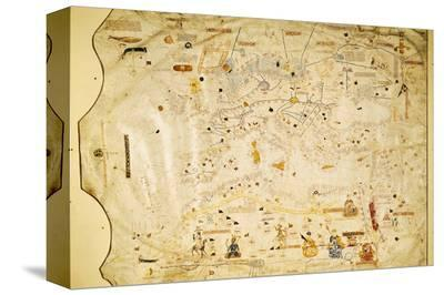 Atlas of Charles V, Map of Mecia De Viladestes, a Portulan of Europe and North Africa, 1413--Stretched Canvas Print