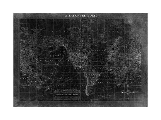 Atlas of the World--Premium Giclee Print