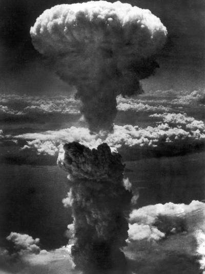 Atomic Bomb Smoke Capped by Mushroom Cloud Rises More Than 60,000 Feet Into Air over Nagasaki--Photographic Print
