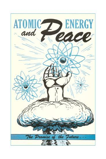 Atomic Energy and Peace Poster--Giclee Print