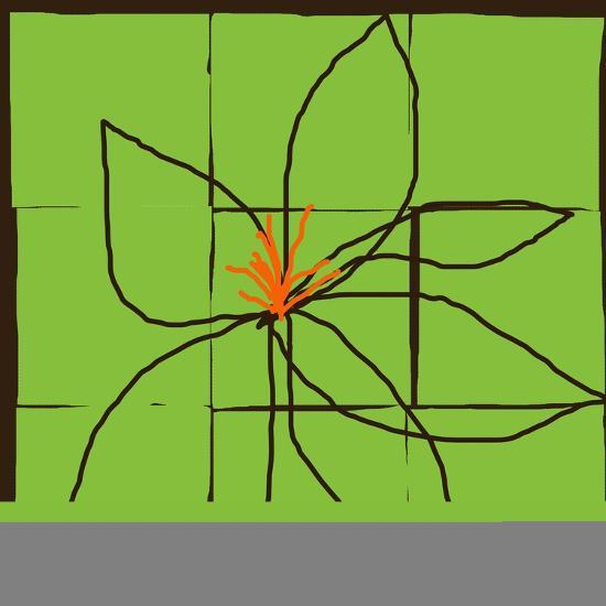 Atomic Floral One-Jan Weiss-Art Print