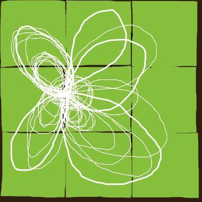 Atomic Floral Three-Jan Weiss-Art Print