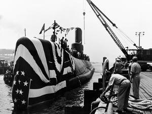 Atomic Submarine Uss Seawolf (SSN-575) at Launch