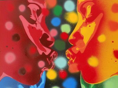 Atoms-Abstract Graffiti-Giclee Print