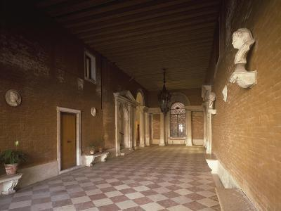 Atrium, Palazzo Corner Spinelli, Work by Michele Sammicheli, Venice, Italy, 15th-16th Century--Giclee Print