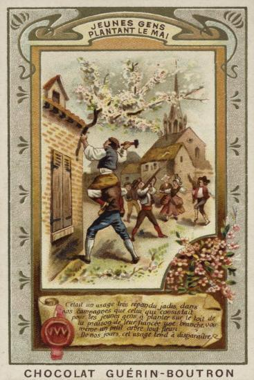 Attaching a May Branch to the Roof of the House of One's Fiancee--Giclee Print