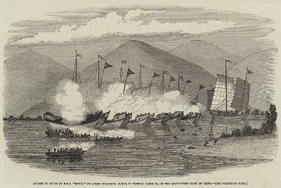 Attack by Boats of HMS Medea on Armed Piratical Junks--Giclee Print