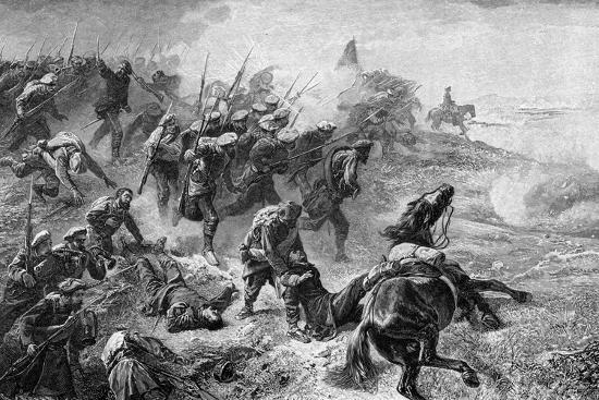 Attack of Basque Carlists During the Revolt of 1872-1876--Giclee Print