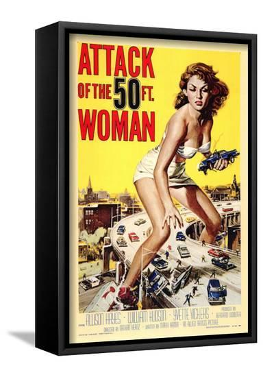 Attack of the 50 Foot Woman--Framed Canvas Print