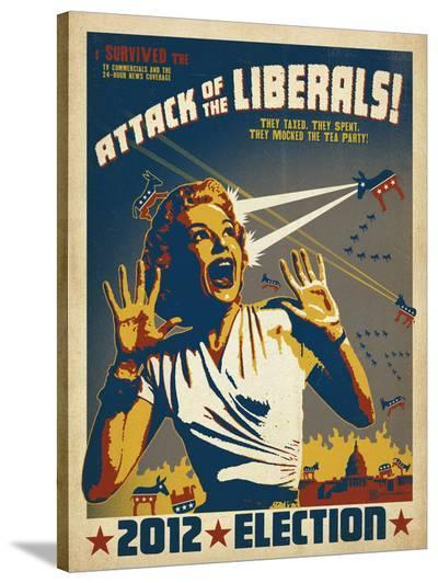 Attack Of The Liberals!-Anderson Design Group-Stretched Canvas Print