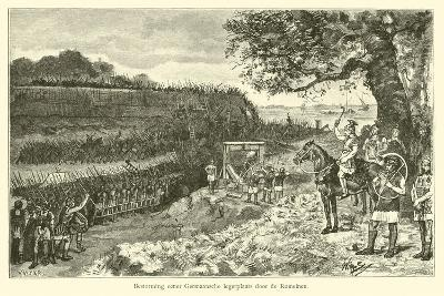 Attack on a Germanic Encampment by the Romans-Willem II Steelink-Giclee Print