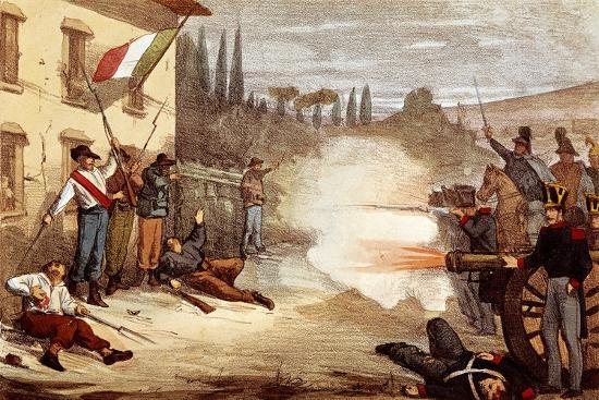 Attack on Ciro Menotti's House on the Night of February 3, 1831--Giclee Print