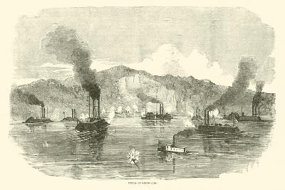 Attack on Grand Gulf, April 1863--Giclee Print