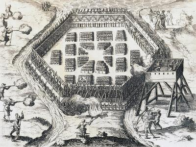 Attack on Iroquois Village--Giclee Print