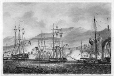 Attack on Sidon by Commodore Charles Napier, 26 September 1840-George Greatbatch-Giclee Print