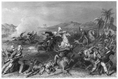 Attack on the Sealkote Mutineers by General Nicholson's Irregular Cavalry, 1857--Giclee Print