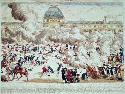 Attack on the Tuileries, 10th August 1792--Giclee Print