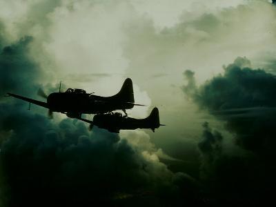 Attack on Wake Island, US Navy--Photographic Print