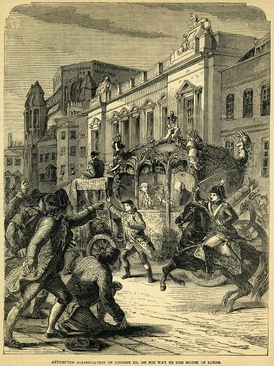 Attempted Assassination of George III on His Way to the House of Lords, 1795--Giclee Print