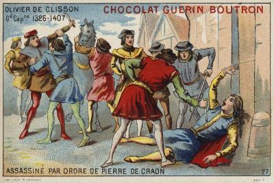 Attempted Assassination of Olivier De Clisson by Pierre De Craon--Giclee Print