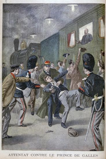 Attempted Attack on Edward, Prince of Wales in Brussels, 1900--Giclee Print