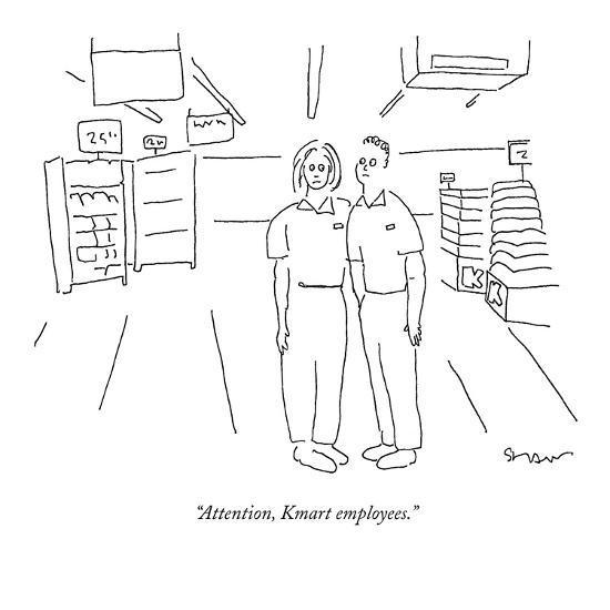 """Attention, Kmart employees."" - New Yorker Cartoon-Michael Shaw-Premium Giclee Print"