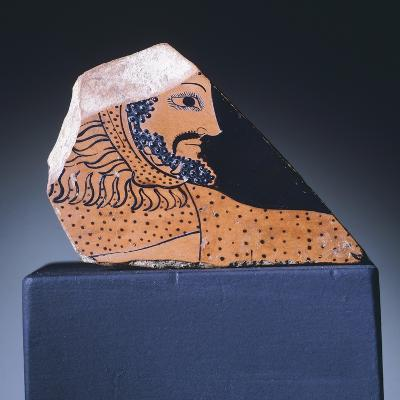 Attic Krater Fragment Showing Hercules's Head, 510-470 BC--Giclee Print