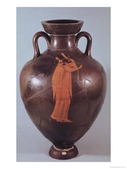 Attic Red Figure Amphora Depicting a Musician Playing a Lyre- Berlin Painter-Giclee Print