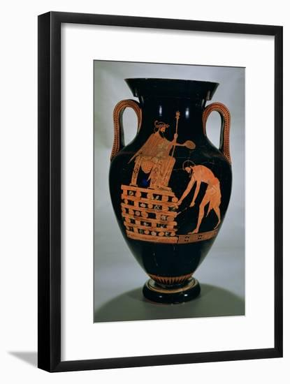 Attic Red-Figure Belly Amphora Depicting Croesus on His Pyre, from Vulci, circa 500-490 BC-Myson-Framed Giclee Print
