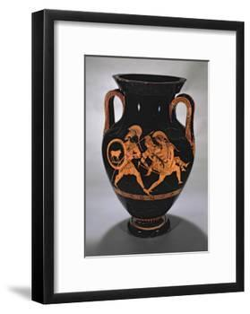 Attic Red-Figure Belly Amphora Depicting the Abduction of Antiope with Theseus and Pirithous-Myson-Framed Giclee Print