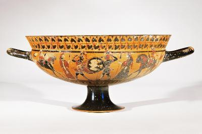 Attic Siana Cup Depicting Hoplite Warriors--Giclee Print