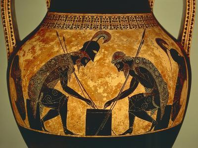 Attic Vase of Exekias Depicting Achilles and Ajax Playing Dice, Detail--Giclee Print