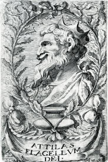 Attila the Hun--Giclee Print