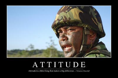 Attitude: Inspirational Quote and Motivational Poster--Photographic Print