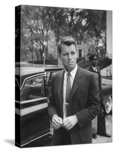 Attorney General Robert F. Kennedy, after Meeting of National Security Council, Re Cuban Crisis