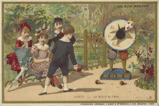 Au Bon Marche Cards Featuring Children's Games--Giclee Print