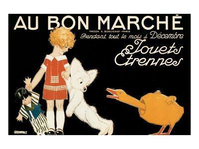 Au Bon Marche, Jouets et Etrennes-Ren? Vincent-Art Print