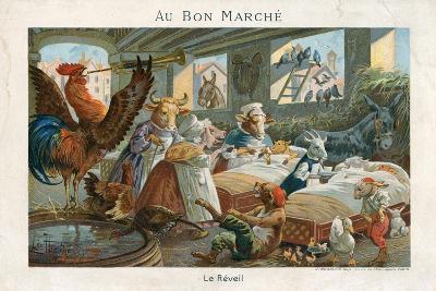Au Bon Marche Trade Card--Giclee Print