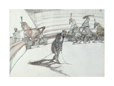 Au Cirque: Chevaux En Liberte, 1899-Henri de Toulouse-Lautrec-Giclee Print