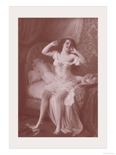 Au Lever-Jules Scalbert-Art Print
