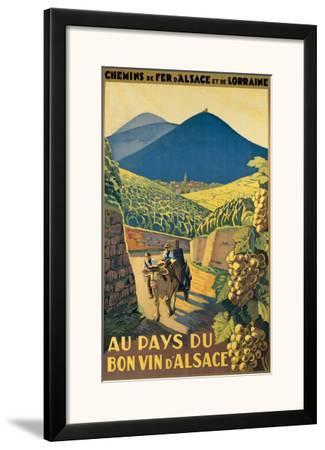 Au Pays du Bon Vin d'Alsace--Framed Giclee Print
