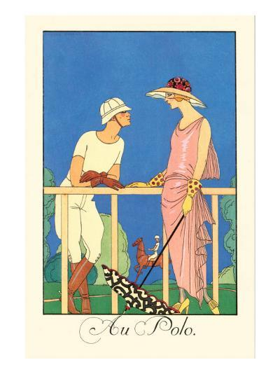Au Polo-Georges Barbier-Art Print
