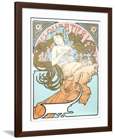 Au Quartier Latin-Alphonse Mucha-Framed Collectable Print