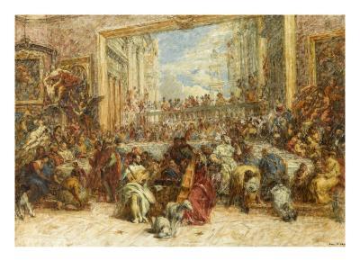 Au Salon Carré-Louis Beroud-Giclee Print