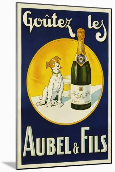 Aubel and Fils Poster--Mounted Giclee Print