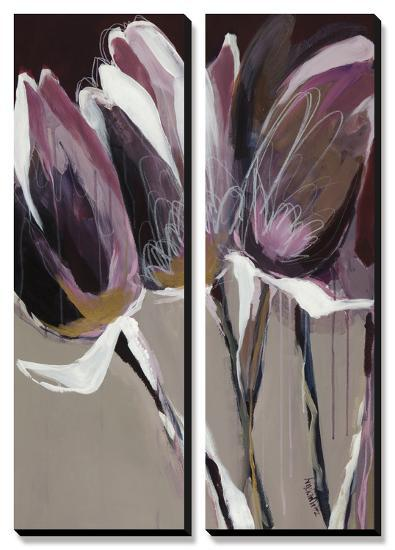 Aubergine Splendor I-Angela Maritz-Canvas Art Set