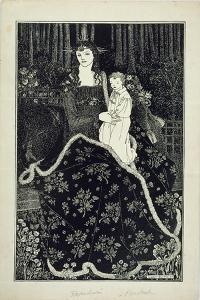 A Large Christmas Card, 1895 (Line Block Print) by Aubrey Beardsley