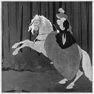 A Woman Sitting on a Rearing Horse, 1898 by Aubrey Beardsley