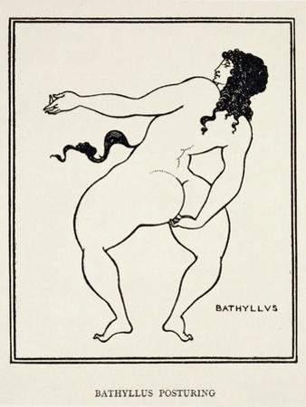 "Bathyllus Posturing, Illustration from ""The Sixth Satire of Juvenal,"" 1896 by Aubrey Beardsley"
